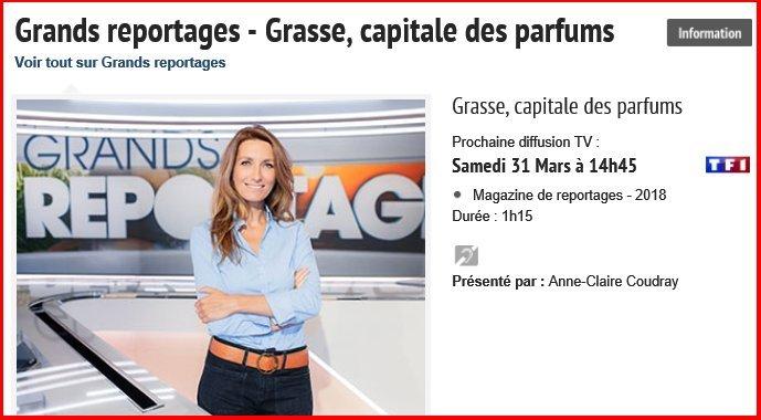 REPORTAGE TF1 PARFUM