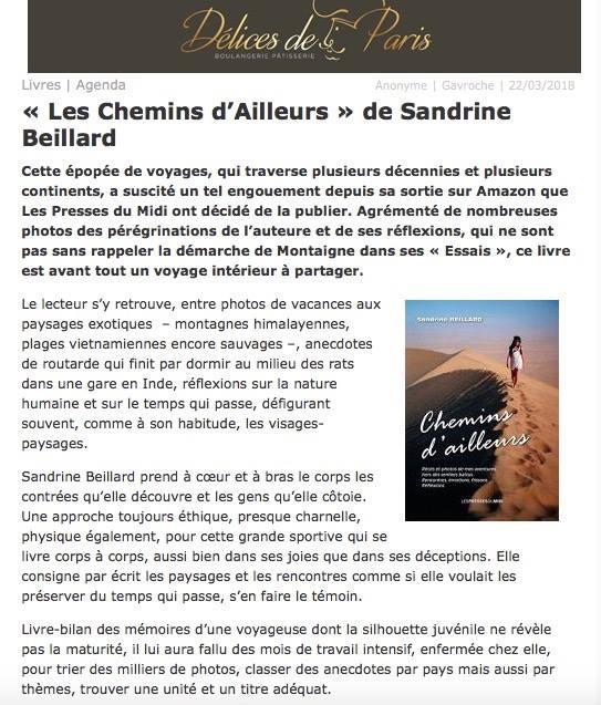 CHEMINS D'AILLEURS publication