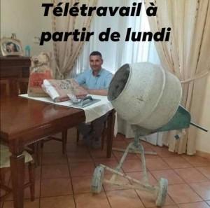 TELETRAVAIL CORONAVIRUS
